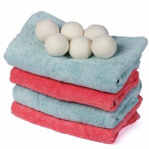 Lana 7cm ropa limpia bola reutilizable orgánico natural de lavandería suavizante de telas pelota de primerísima calidad orgánica bolas del secador