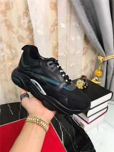 2019DR HOMME B22 riflettente Sneakers In Black Knit tecnico in pelle di vitello Trainer Sneakers con la scatola originale