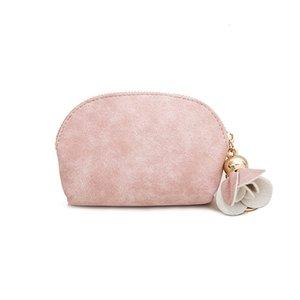 Portable Fashion PU Leather Makeup Cosmetic Pouch Bags Storage Case Hand Bag Clutch Bag Coin Purse Makeup Orangizer Mini Travel Bag LQB08