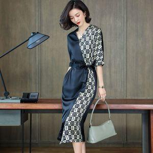 Heavy weight Silk Dress Satin fashion summer women's dress 2020 new Hangzhou fashion mulberry silk