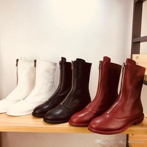 Guidi botas de piel de oveja invertida forro de dama con 5 centímetros de altura sin fisuras cremallera frontal mujer botas cortas
