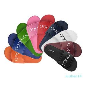Negro OEM personalizada Diapositivas calzado de la sandalia de PVC, logotipo personalizado Zapatillas Hombres en blanco llana de diapositivas sandalia, zapatillas de encargo del logotipo de diapositivas sandalia L14