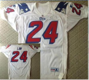 Custom Men Youth women Vintage #24 Ty Law Retro 1995 Game Worn Retro College Football Jersey size s-5XL or custom any name or number jersey