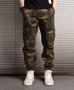 New calças dos homens Moda Camouflage Joggers Pants Homens Mulheres Zipper Macacões Calças feixe Pé Calças Irregular Jogging