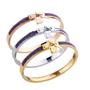 Браслет-манжета браслет мода Красочного Кристалла Высокого качества Titanium женщин с логотипом Лучших Свадебных подарком ювелирных изделий