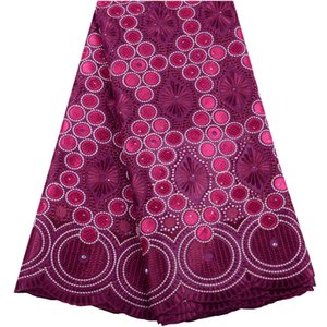 2020 Latest Swiss Voile Cotton Lace Fabric with Stones African Swiss Voile Laces High Quality French Lace For Woman Dress