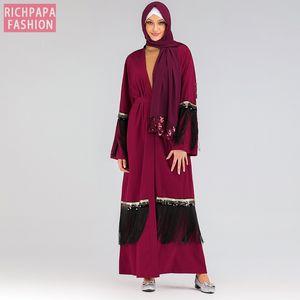 Lentejuela Bolero del encogimiento de hombros Djelaba Femme Mujeres Shrugs niqab Abaya kimono largo Cardigan musulmana islámica túnica de Dubai Turquía Escudo Boleros