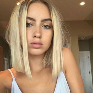 """Синтетический парик для женщин 14"""" Короткой Боб леди парик косплей с челкой Straight продуктов Женщин волоса omber парик моды естественно, как настоящие волосы"""