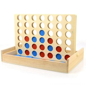 أربعة في صف واحد خشبي لعبة الخط حتى 4 كلاسيكي ألعاب أخرى عائلية مجلس لعبة لعبة للأطفال والأسرة متعة اللعب