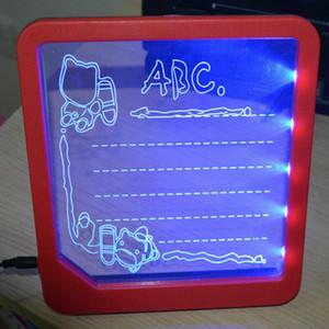 Les enfants dessinent avec des lumières LED Fun et développement Garçons Toy filles Dessin Board magique Dessin Jouets éducatifs