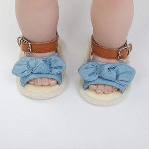 Kızlar For Baby Yaz Bebek Ayakkabı Sandalet Pamuk Moda Yenidoğan Bow Pamuk Prenses Sandalet Yeni Ayakkabı