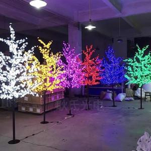 الصمام للماء في الهواء الطلق حديقة المناظر الطبيعية مصباح شجرة الخوخ محاكاة 1.5 متر 480 أضواء LED أضواء شجرة الكرز شجرة حديقة الديكور