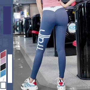 Yoga Girl Designer Fitness Sports running Women yoga pants High Waist Sports Gym Wear Leggings Elastic jumpsuits sets letter print female
