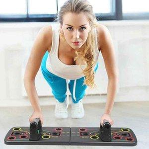 دفع ما يصل طوي الرف المجلس مع حبل سحب قطار رياضة للياقة البدنية تجريب نظام ممارسة تمارين الضغط تقف ZZA2082 1PCS