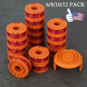 Para Spool Linha WORX WA0010 substituição da grama de Cordas Trimmer Red 6/8/10/12 pacote