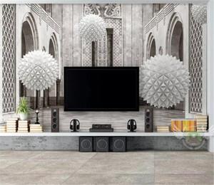 Custom Photo 3d Wallpape 3d Esfera Espacio Arquitectónico Europeo Decoración para el hogar Moderno Salón Revestimiento de pared
