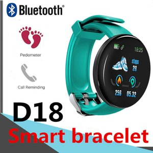 Pulsera inteligente D18 rastreador de ejercicios 116PLUS ritmo cardíaco inteligente pulsera para Android ver facebook Twitter WhatsApp 115plus A6 Bluetooth