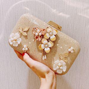 도매 여행 더플화물 가방 동전 지갑 디자이너 심지어 가방 패션 작품 꽃 라인 석 구슬 성격 여성 체인 가방