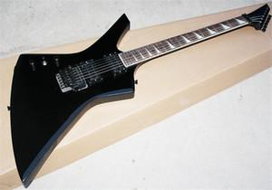 KEXTMG KELLY Chitarra elettrica per mano sinistra, Black Left Hand Special Purpose, Pickup per tremolo e HH, personalizzabili secondo necessità