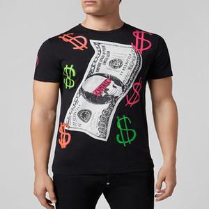 Diseñador de la marca Camisetas Hombre Verano Básico Camiseta Sólida Hombres Moda Casual Cráneo Punk Hombre Calidad superior 100% algodón de lujo Tees Tamaño M-3XL