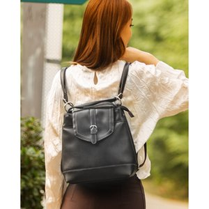 Japanese Literature and Art Double Shoulder Handheld Port Fashion Lady Soft Skin small backpack