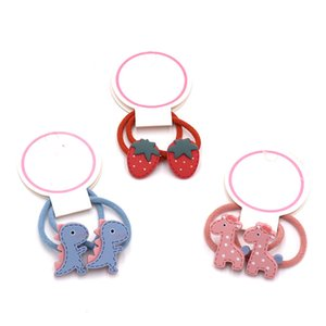 2PCS baby hair ring cartoon fruit Flower hair bands small head rope elastic band acrylic children accessories headwear