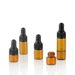 Vidro Dropper Bottle Com Pipeta de perfume transparente Frascos de petróleo essenciais Esvazie frascos para líquidos Cosmetic1 2 3 5ml0 4jd E1