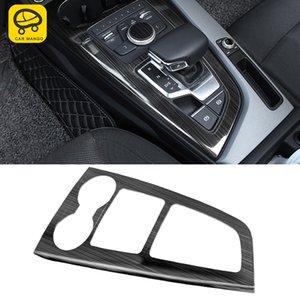 자동차 인테리어 액세서리 센터 제어 2017-2020 패널 트림 A4 커버 프레임 S5 S4 몰딩 기어 스티커 A5 장식 B9 Audi Muokr