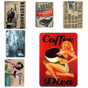 Vintage Metal Tin Signs For Wall Decor Cars Motcycles Iron Paintings 20