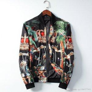 2019 New Кардиган Men Jacket Печать Hip Hop Повседневный пальто вскользь Mens конструктора Куртки Slim Fit Ветровка Zipper Plus
