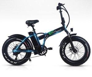 Euro Stok No Vergi 500W Katlama Fat Tire 2 Tekerlek Elektrikli Bisiklet 48V 15Ah Çıkarılabilir BT Plaj Seyir Booster Elektrikli Bisiklet Kar