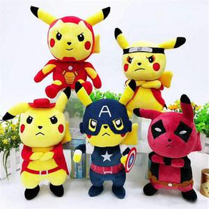 2019 새로운 포켓 몬스터 봉제 장난감 Bikachu 코스프레 나루토 박제 된 동물 Bikachu 어린이 선물 장난감 무료 배송