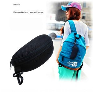 Universal anti-pressure sun sun box large EVA sunglasses zipper bag sports outdoor portable hanging buckle glasses box