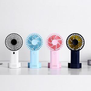 Mini portátil de escritorio de mano del ventilador del refrigerador del USB recargable de aire acondicionado Reino Unido verano del ventilador interior al aire libre con el teléfono Soporte
