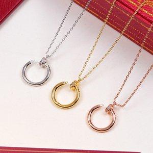 joyas de diseño de lujo CZ 2020 clavo simple del collar colgante para las mujeres Bijoux Gargantilla Femme de San Valentín regalo de amor Carter