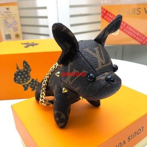 Box-Moda Klasik Köpek Anahtarlık Unisex lüks markalara ait tasarım Araç Anahtarlık Kaliteli kolye anahtarlıklar iyi aksesuarları hediye ile