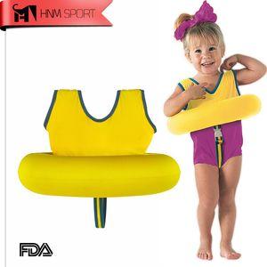 Hnm Sport Bambini Giubbotto di salvataggio Giubbotto per bambini Ragazzi Ragazze Nuoto per bambini Tot Trainer Nuoto Cerchio Anello Accessori piscina C19041201