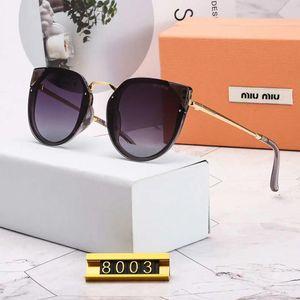 Designer de óculos de sol de luxo óculos de sol da marca de óculos de sol da moda verão das mulheres estilo de orelha de gato de vidro uv400 5 estilo com caixa de alta qualidade