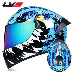 casco integral los conductores de motocicletas seguridad del casco de doble lente Racing cálido y resistente al viento