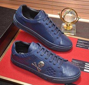 2020 de alta gama para hombre del diseño de moda casual para hombre zapatos para hombre de la calle de piel de serpiente de taro de plataforma zapatos de boda zapatos de hombre planas con cordones de zapatos bailan a2