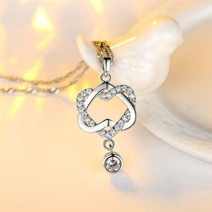 Long Pendant Heart-Shaped Necklaces Pendants For Women Simple Design Necklace Stylish Stainless Steel Jewelry Party Gift