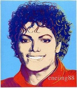 Andy Warhol New Pop Art Michael Jackson, dipinto a mano HD Stampa astratta variopinta moderna arte della pittura a olio Sulla Canvas.Multi dimensioni / Frame Aw02
