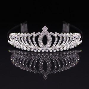 dres de H5KlV novia pinzas banda Fu Li Tong cena de la boda de la corona de la boda li fu tocado de accesorios para el cabello de la corona de diamantes de imitación de los niños Flor Boy