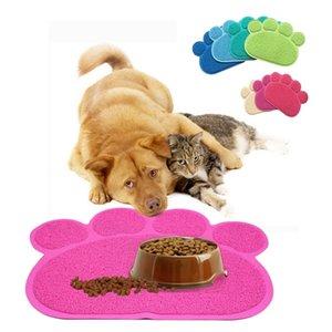 Köpek Kedi Besleme Mat Pad Köpek Paw Şekil Fincan Placemat Pet Mat Çanak Kase Gıda Su Besleme Placemat Kolay Temizlik Silin