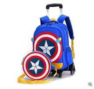 Ziranyu Travel Bags Kid Mochila para niños con ruedas para trolley Bolsa sobre ruedas Escuela Rolling Mochilas J190619