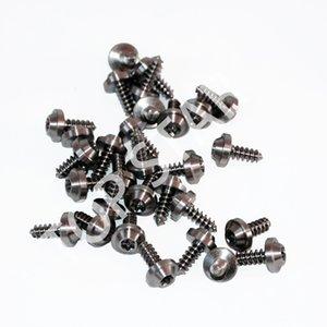 Bulloni in lega di titanio M4 x12mm GR5 Flange Bulloni a testa esagonale Viti autofilettanti per moto 10 PZ