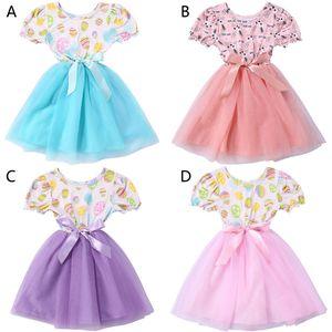 2020 huevos de Pascua Conejo Día lindo del bebé del vestido del niño del partido princesa del desfile de la historieta viste los niños ropa de la muchacha B1