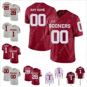 Oklahoma Sooners Football Jersey Marquise Overton Nik Bonitto Kennedy Brooks Grant Calcaterra Mykel Jones Tramonda Moore Tanner Mordecai