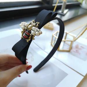 Designer-Stirnband für Damen Bienenmuster nette Haar-Band-freies Verschiffen Haarbänder mit Tuch gewickelt für Mädchen