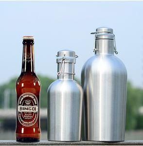1L (32OZ) 진보적 인 플라스크 스테인리스 고전적인 스타일의 휴대용 물병 플라스크 위스키 알코올 술 마시는 주전자